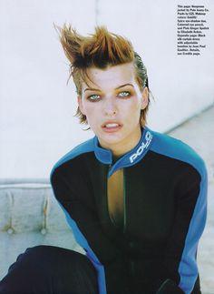 "80s-90s-supermodels:  ""The Mild Bunch"", Allure US, December 1996Photographer: Peter LindberghModel: Milla Jovovich"