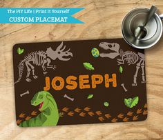 Placemat   Digging Dinosaur Fossils Kids Kitchen by ThePIYLife