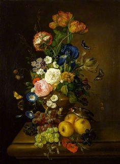 English flower painter Mary Moser was born in She was one of two women founding members of the Royal Academy in 1768 alongside Angelica Kauffmann. 'Vase of Flowers' by Mary Moser The Fitzwilliam Museum Flower Vases, Flower Art, Flowers, Flower Arrangement, Organic Structure, Academic Art, Art Uk, Your Paintings, Floral Paintings