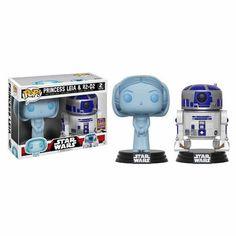 Pack Figuras Funko Pop Star Wars Princesa Leia & R2-D2 - Exclusivo SDCC17