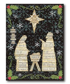 The Nativity Wrapped Canvas