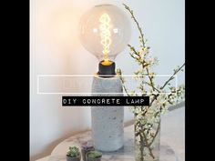 How To Make an Ombre Concrete Lamp - YouTube