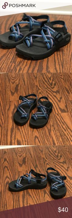 Chacos Chacos ~ double strap ~ toe strap ~ worn once or twice ~ size 6 Chaco Shoes Sandals