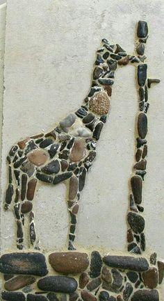 Pebble giraffe. short necked ;)