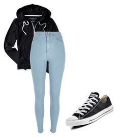 """""""Go to outfit"""" by ashleyhamilton507 on Polyvore featuring Aéropostale, River Island, Converse, women's clothing, women, female, woman, misses and juniors"""