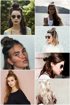 Este verano, medio moño/ Half top knot for the summer