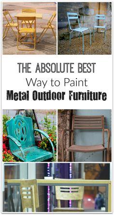 Repaint Old Metal Patio Chairs Diy Paint Outdoor Metal