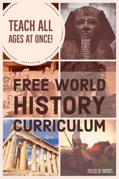 Homeschool World History Plan (Teach all ages at once !) – Fields of Daisies Homeschool World History Plan (Teach all ages at once !) – Fields of Daisies,Homeschool- History Homeschool World History Plan (Teach. World History Projects, World History Classroom, World History Lessons, History For Kids, Study History, History Books, High School World History, History Posters, American History Lessons