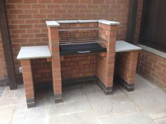 Original DIY Brick Barbecue Kit BKB Built In BBQ Grill for Charcoal. All Hardware including Stainless Steel Cooking Grill, Deep Ash Tray with Ember Guard, Warming Rack, Lifting Handles Barbecue Grill, Design Barbecue, Built In Bbq Grill, Grill Design, Outdoor Barbeque, Garden Bbq Ideas, Brick Grill, Brick Built Bbq, Parrilla Exterior