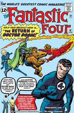 Catawiki online auction house: Marvel Comics - The Fantastic Four - Stan Lee & Jack Kirby appearance in story! Old Comic Books, Vintage Comic Books, Marvel Comic Books, Comic Book Artists, Comic Book Covers, Comic Book Characters, Vintage Comics, Comic Superheroes, Marvel Characters