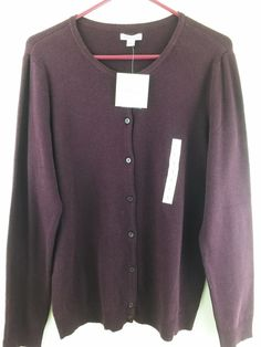 Humor Belldini Cardigan Sweater Size Large Black White Open Front 100% Original Panties
