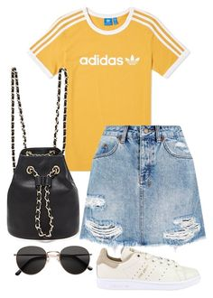"""Sans titre #732"" by el-khawla ❤ liked on Polyvore featuring adidas Originals, adidas, Ksubi, Forever 21 and H&M"