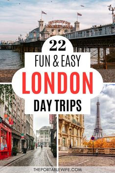Explore the UK and beyond with these easy day trips from London by train. Discover the best places to see near London without a car or hotel reservation! London England Travel, London Travel, Day Trips From London, Things To Do In London, Europe Travel Guide, Travel Destinations, Edinburgh Travel, Visit Uk, London Attractions