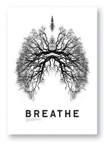 I really enjoy this Michael Bierut piece. I love the idea he used by forming the trees into the shape of a pair of lungs. It signifies that trees are a vital part of human survival due to their creation of oxygen, which when need in order to breathe.