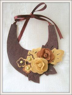 Felt collar necklace by Myworlds on Etsy, $40.00
