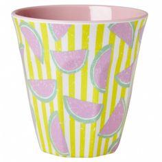 Melamine cup two tone watermelon print - Rice - Merken