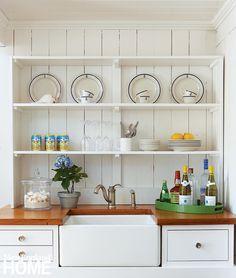 Cottage decor: Kitchen   Parker & Company via New England Home Magazine