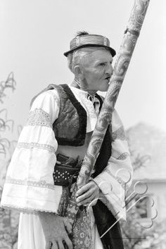 Old man playing on the fujara (Slovak wooden music instrument) The Shepherd, Old Men, Musical Instruments, Old Photos, Musicals, Anna, Polish, Europe, Culture