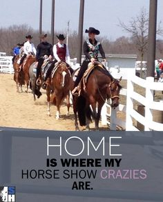 Truth! My horsey friends are my insane adopted family :)