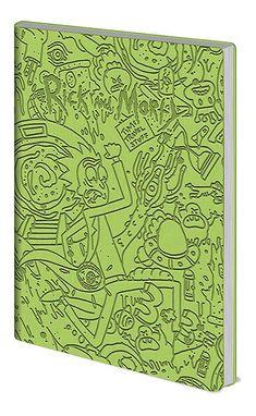 Rick and Morty Notebook Portal Dash Green Flexi Cover A5 - Paradiso Clothing