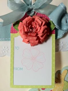 Courtney Lane Designs: gift tag made using the Art philosophy cartridge