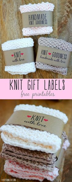 Free Printable Knit Gift Labels (via Bloglovin.com )