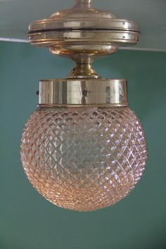 plafon dourado globo bico jaca canela - anos 60