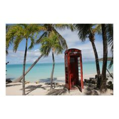 Red public Telephone Booth on Antigua  #photo
