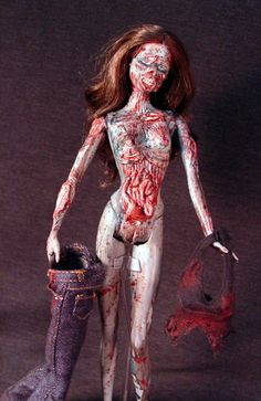 Zombie Barbie with Display Stand Anatomically by Undead-Art.deviantart.com on @deviantART