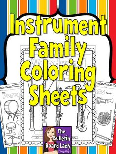 Simple coloring sheets of instrument families.  In 3 formats.  GREAT for primary grades! $