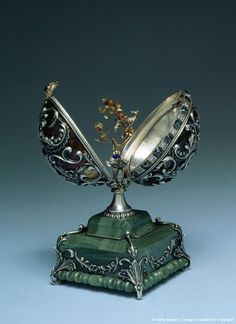 Faberge Egg from the Kremlin Museum collection in Moscow, Russia,