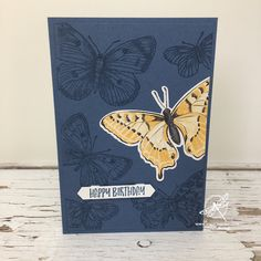 Butterfly Bags, Simple Butterfly, Arts And Crafts, Paper Crafts, Iris Folding, Types Of Craft, Cards For Friends, Card Sketches, Stamping Up