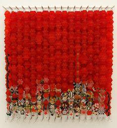 | Jacob Hashimoto |  Overgrown with Osiers, 2009  amazing curtain