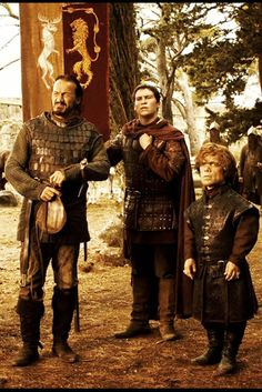 Bronn, Podrick and Tyrion aka characters I would get wasted with