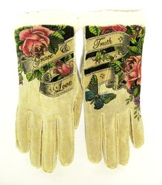 Hand Painted Isotoner Gloves https://www.facebook.com/pages/Wear-the-WORD/412263378821782