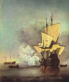 Landschaftsmalerei barock  Adam van Vianen (I)   Ewer and basin with scenes of land and sea ...
