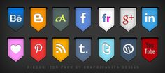 Ribbon Icon Set by ~graphicavita on deviantART