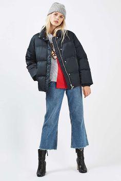Real Down Puffer Jacket - Jackets & Coats - Clothing - Topshop