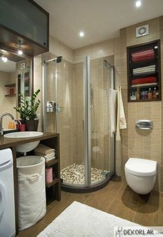 Inspiration for The Latest Bathroom Storage Walls in Modern Style Narrow Bathroom, Tiny Bathrooms, Bathroom Design Small, Modern Bathrooms, Modern Laundry Rooms, Bathroom Storage Solutions, Interior Minimalista, Industrial House, Urban Industrial