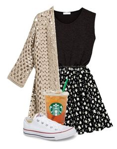 """Philippians 4:13 "" by artsycharrr ❤ liked on Polyvore featuring Chico's and Converse"