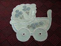 Lembrancinha para chá de bebê feito em papel vegetal! Lindo, gracioso!