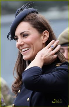Kate Middleton. Not only is she a real life princess she is wearing Princess Diana's ring. Unreal