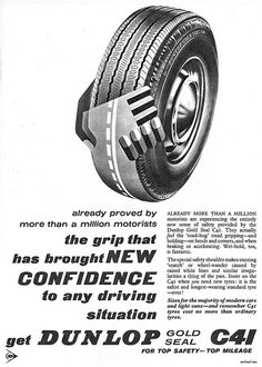 Dunlop Gold seal Tyres Ad 1963