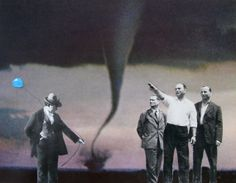 Over There  Original COLLAGE / Montage SURREAL Art by collageadada, $30.00