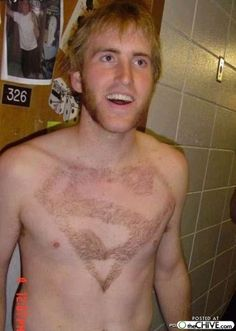 Burrito-this almost makes me wish I was a guy. Kevin should shave his in a mustache.