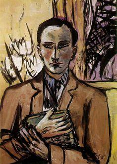 Max Beckmann: Portrait of Stephan Lackner (1937-1939)  Art Experience NYC  www.artexperiencenyc.com/social_login/?utm_source=pinterest_medium=pins_content=pinterest_pins_campaign=pinterest_initial