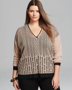 Marina Rinaldi Plus Adibire Sweater   Bloomingdale's