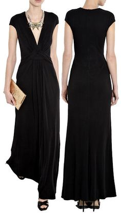 Issa Black Silk Maxi Dress. Deeply impractical but very appealing.