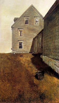 Andrew Wyeth 'Weatherside' 1965 tempera on panel by Plum leaves