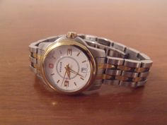 Women's or Girls Wenger Swiss Made Two Tone Watch  #Wenger #Military